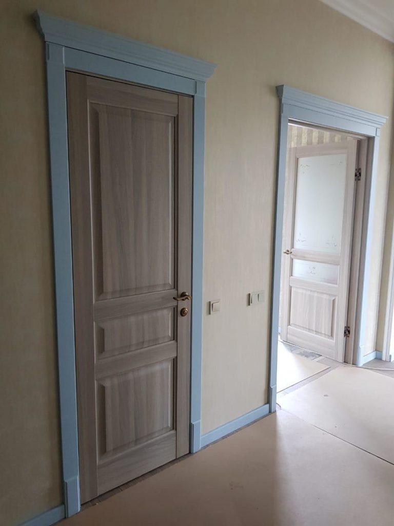 Межкомнатные двери глухие и с матовым стеклом