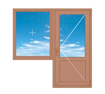 Балконный блок с глухим окном