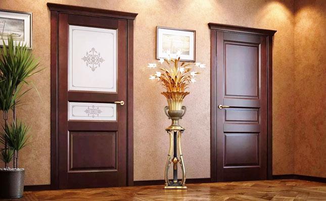 Изысканные двери из массива