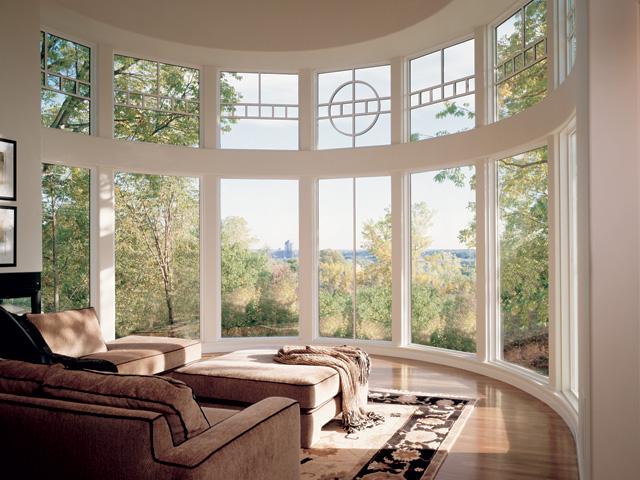 Панорамные окна в пол для оформления эркеров