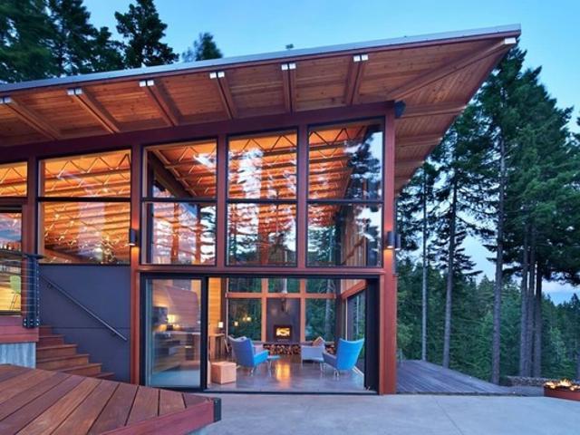 Панорамные окна для дома, коттедж